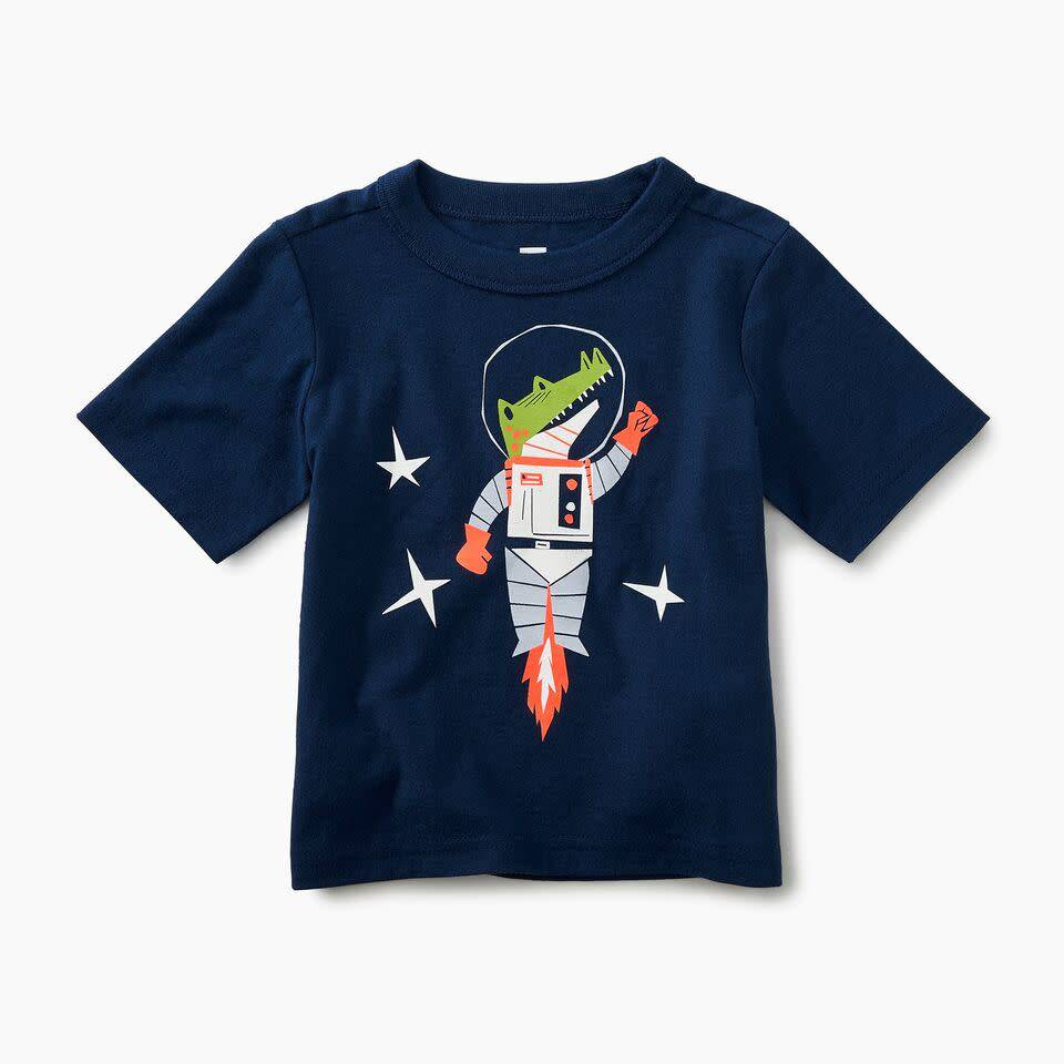 Tea Collection Space Croc Graphic Tee
