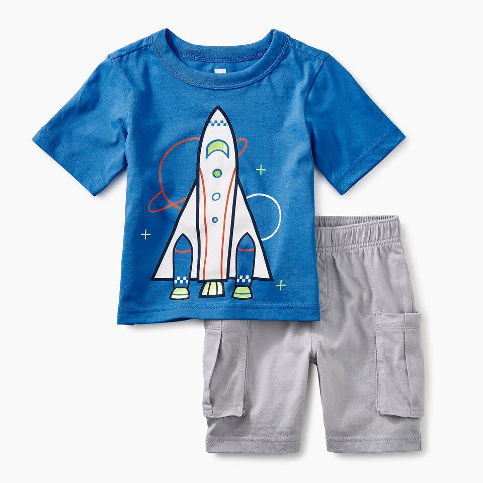 Tea Collection Spaceship Baby Outfit