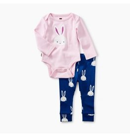 Tea Collection Pink Crepe 2-Piece Bodysuit Baby Outfit