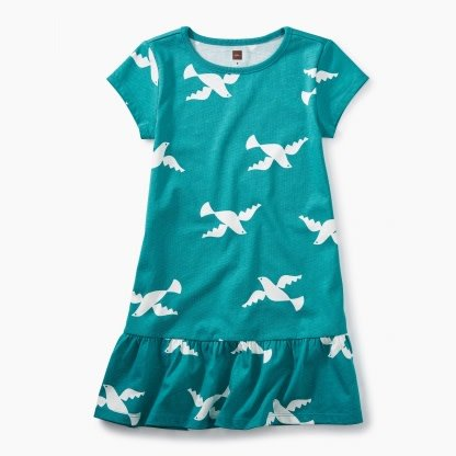 Tea Collection Dove Ruffle Dress
