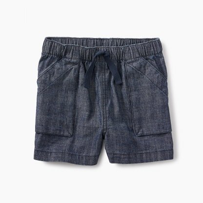 Tea Collection Chambray Pull-On Shorts