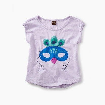 Tea Collection Mardi Gras Mask Tee