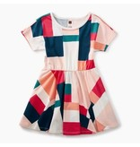 Tea Collection Geo Patchwork Skirted Dress