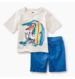 Tea Collection Surfing Pelican Outfit