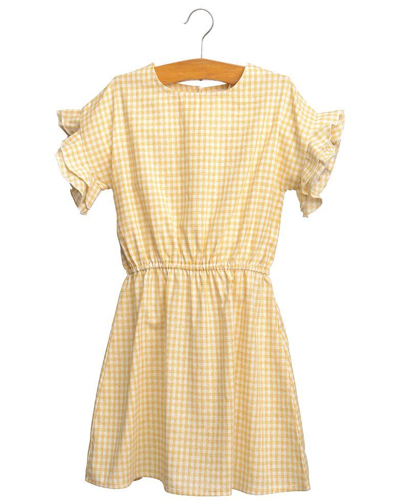 Siaomimi Hailey Dress - Yellow Check