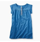 Tea Collection Atlas Blue Placket Trim Dress