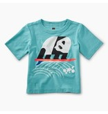 Tea Collection Surfing Panda Baby Tee