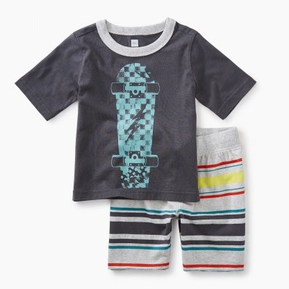 Tea Collection Skateboard Baby Outfit