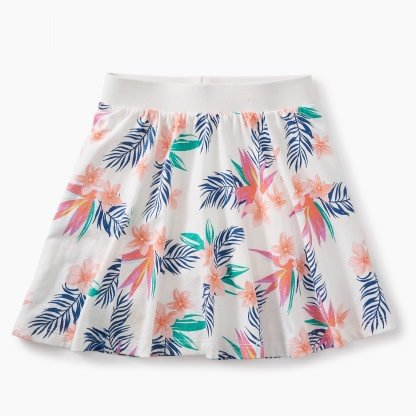 Tea Collection Hawaiian Florals Twirl Skort