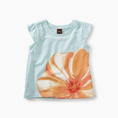 Tea Collection Large Flower Graphic Baby Tee