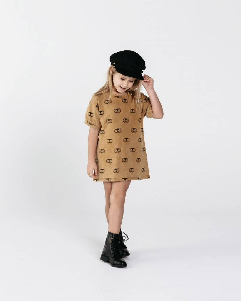 Rylee & Cru Owl Terry Shirt Dress