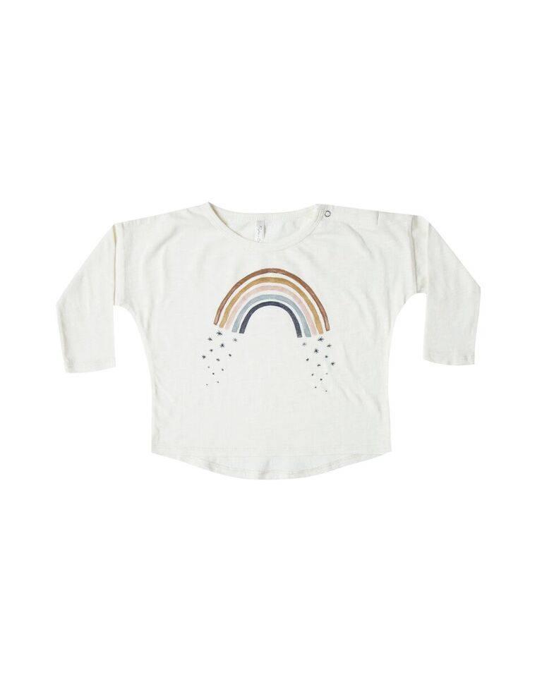 Rylee & Cru Rainbow Longsleeve Baby Tee