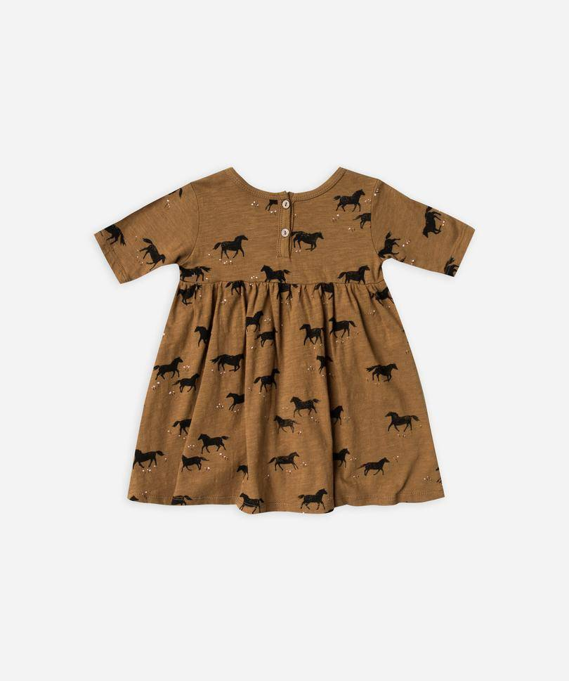 Rylee & Cru Horse Baby Dress