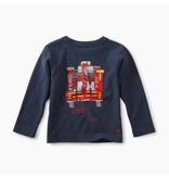 Tea Collection Fire Truck Graphic Tee