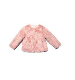 Appaman Faux Fur Coat - Rose Quartz