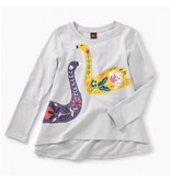Tea Collection Artful Swans Twirl Top