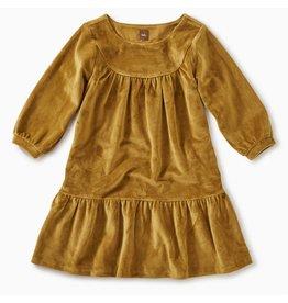 Tea Collection Velour Ruffle Dress