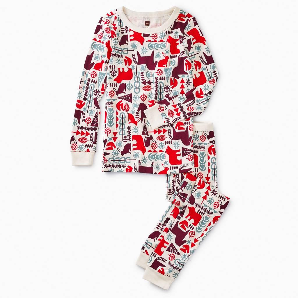 Tea Collection Scandi Animals Pattern Pajamas