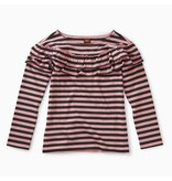 Tea Collection Striped Ruffle Top