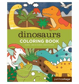 Petit Collage Coloring Book - Dinosaurs