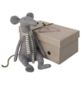 Maileg Cool Rat in box, Blue