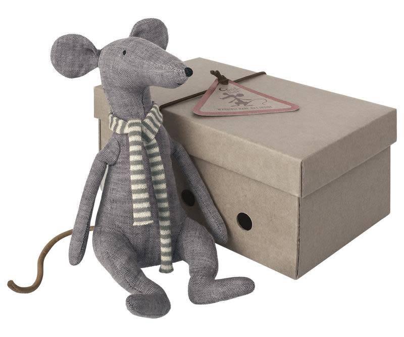 Maileg Cool Rat in box, Blue