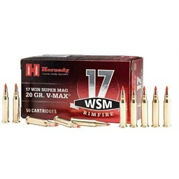 Hornady 17 WSM 20 Grain V-Max 50 Cartridges