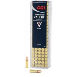 CCI .22LR Mini-Mag 36 Grain Copper-Plated Hollow Point (100 Cartridges)