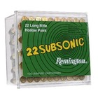 Remington Remington 22 LR Subsonic 38 Grain Hollow Point 100 Cartridges