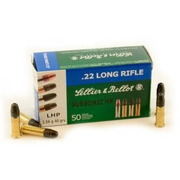 Sellier and Bellot 22 LR 40 Grain SB Standard 50 Cartridges