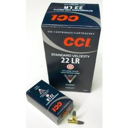 CCI 22 LR Standard Velocity 40 Grain Lead Round Nose 500 Cartridges