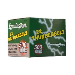 Remington 22 LR Thunderbolt High Velocity 40 Grain Round Nose 500 Cartridges