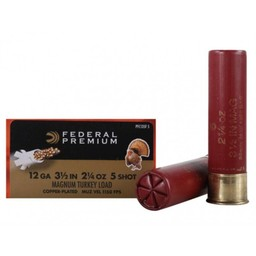 "Federal Premium Federal Premium Magnum Turkey Load 12 Gauge 3 1/2"" 2 1/4oz. Shot #5"