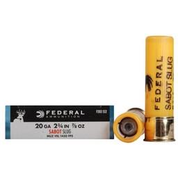 "Federal Power-Shok 20 Gauge 2 3/4"" 7/8oz. Sabot Slug"