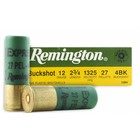 "Remington Remington Buckshot 12 Gauge 2 3/4"" 27 Pellets 4 Buck"