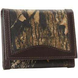Weber's Leather Trifold Wallet Mossy Oak Break-Up/Brown