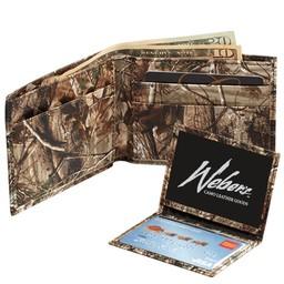 Weber's Ultra-Thin Bifold Wallet Rugged Camo Nylon/Brown