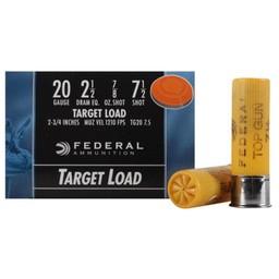 "Federal Federal Top Gun Target Load 20 Gauge 2 3/4"" Shot #8"