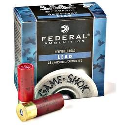 """Federal Game-Shok Heavy Field Load 20 Gauge 2 3/4"""" Shot #7.5"""