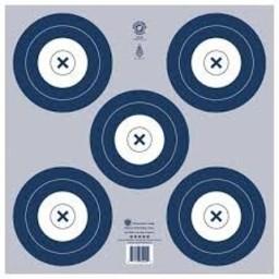 NFAA 5-Spot Indoor Target (Blue)