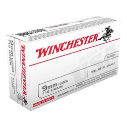Winchester 9mm 115 Grain Full Metal Jacket