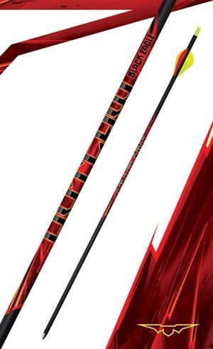 """Black Eagle Outlaw Arrows .005"""" Flo Yellow"""