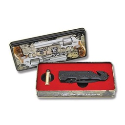 Smith and Wesson Rescue Linerlock and Collectors Tin