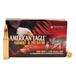 Federal American Eagle Varmint & Predator Centerfire Ammunition