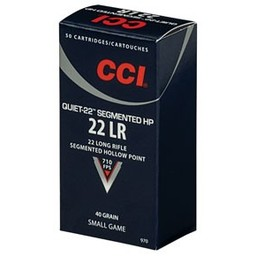 CCI CCI Quiet-22 Segmented HP 22LR 40 Grain