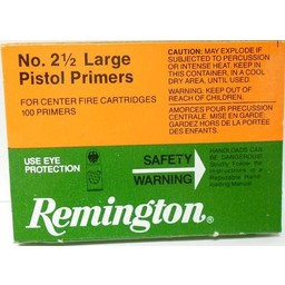 Remington NO. 2 1/2 Large Pistol Primers (100-Count)
