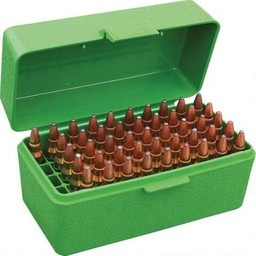 MTM Small Rifle 50 Round Flip Top Ammo Case