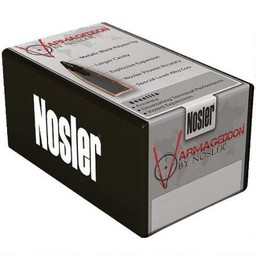 "Nosler Varmageddon .20 Caliber .204"" Diameter 32 Grain Hollow Point Metallic Black Tip Flat Base"