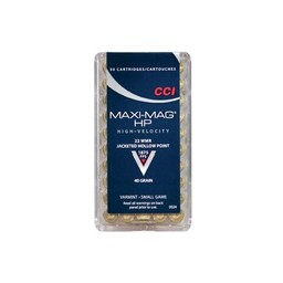 CCI CCI Maxi-Mag 22 WMR JHP 40 Grain (50-Rounds)