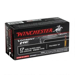 Winchester Varmint HE .17 WSM 25 Grain Poly Tip (50-Rounds)